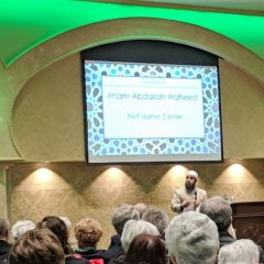 """""""Hate is heard when love is silent,"""" interfaith audience affirms at vigil for New Zealand victims"""