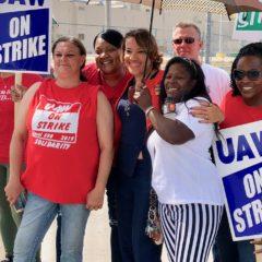 UAW members keep up vigils on the picket line as strike grinds on