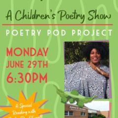 Children's Poetry Show goes ZOOM to feature Poet Laureate Semaj Brown June 29