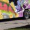 Flint muralist creates bus mural celebrating poet Theodore Roethke